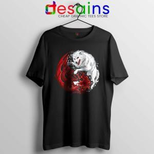 Dragon and Wolf Tshirt Yin and Yang Tee Shirts S-3XL