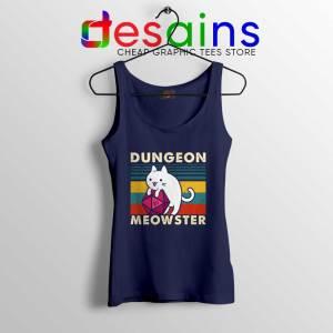 Dungeon Meowster DnD Tank Top Cat Gamer D20 Tank Tops S-3XL