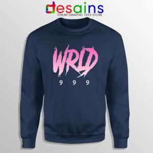 Juice Wrld 999 Art Navy Sweatshirt Rap Hip Hop Sweater