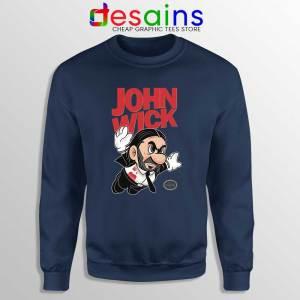 Super John Wick Navy Sweatshirt Super Mario Wick Sweater S-3XL