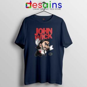 Super John Wick Navy Tshirt Super Mario Wick Tee Shirts S-3XL