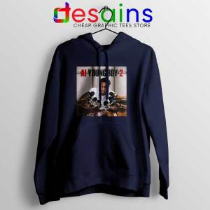 AI YoungBoy 2 Song Navy Hoodie YoungBoy Never Broke Again Hoodies