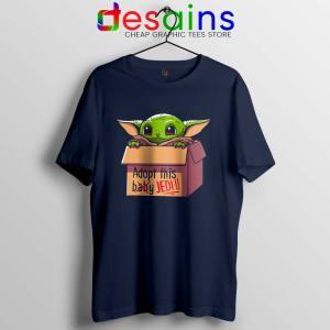 Adopt this Baby Jedi Navy Tshirt Baby Yoda Tee Shirts