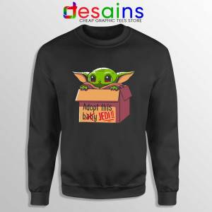 Adopt this Baby Jedi Sweatshirt Baby Yoda Sweaters S-3XL