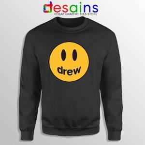 Drew Smile Face Black Sweatshirt Drew House Sweaters