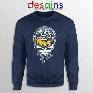 Grateful Dead Limited Art Navy Sweatshirt Rock Band Merch Sweaters