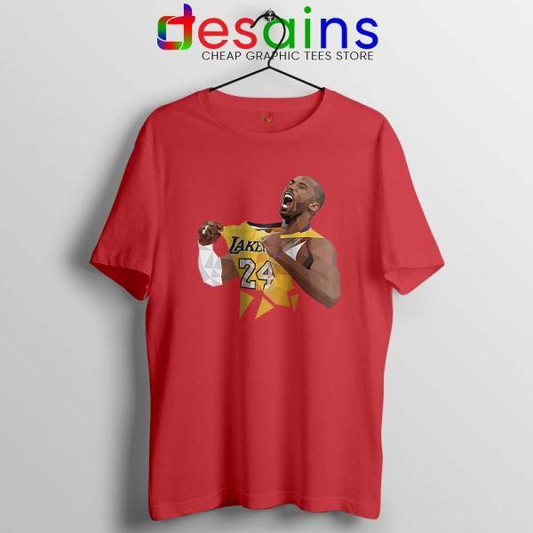Kobe Bryant Lakers Jersey Art Red Tshirt Kobe Bryant RIP Tees