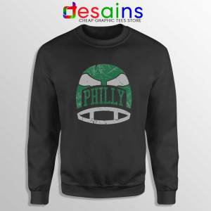 Philly Retro Helmet Black Sweatshirt Philadelphia Eagles Sweater