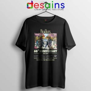 The Beatles 60th Anniversary Tshirt The Beatles Merch Tees S-3XL