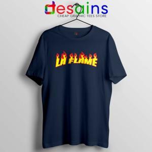 Travis Scott La Flame Navy Tshirt Merch Travis Scott Tees