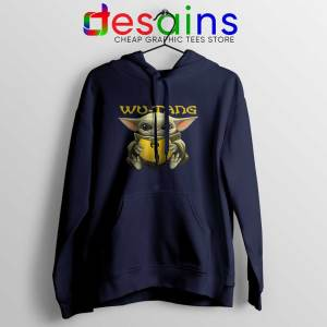 Wu Tang Clan Baby Yoda Navy Hoodie The Child Hoodies
