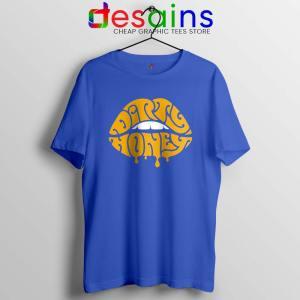 Dirty Honey Logo Merch Blue Tshirt American Rock Band Tee Shirts