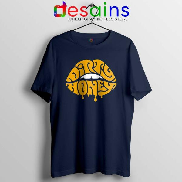 Dirty Honey Logo Merch Navy Tshirt American Rock Band Tee Shirts