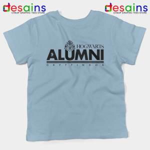 Hogwarts Alumni Gryffindor Light Blue Kids Tshirt Harry Potter Youth