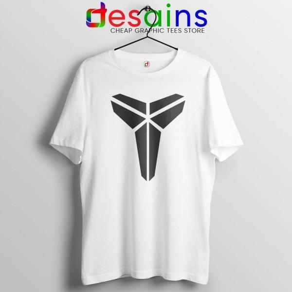 Logo Black Mamba Kobe White Tshirt RIP Kobe Bryant NBA Tees