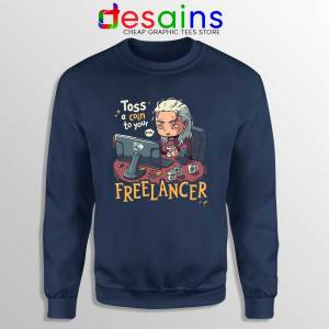 Tos A Coin To Your Freelancer Navy Sweatshirt The Witcher Sweaters