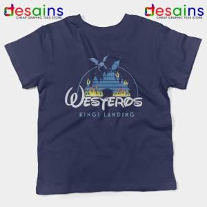 Westeros Kings Landing Disney Navy Kids Tshirt Game of Thrones Youth