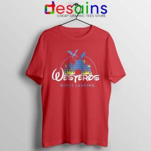 Westeros Kings Landing Disney Red Tshirt Game of Thrones Tees