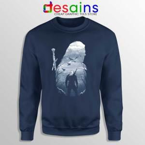 Wild Hunt The Witcher Navy Sweatshirt Netflix Witcher Geralt Sweaters