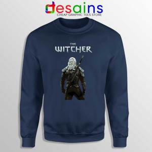 Witcher Monster Hunter Navy Sweatshirt Merch The Witcher Sweaters