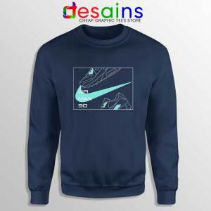 AirMax 90 Just Do It Navy Sweatshirt Nike Parody Sweaters S-3XL