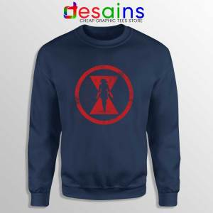 Black Widow Red Room Navy Sweatshirt Marvel Cinematic Sweaters