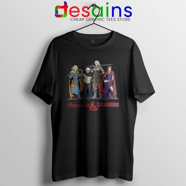 Cheesecake and Dragons Black Tshirt DnD The Golden Girls Tees