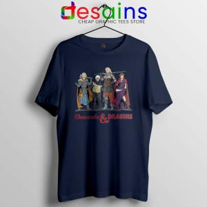 Cheesecake and Dragons Navy Tshirt DnD The Golden Girls Tees