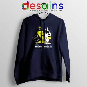Heisenberg Snoopy Beagle Navy Hoodie Breaking Bad Snoopy Jacket