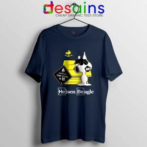 Heisenberg Snoopy Beagle Navy Tshirt Breaking Bad Snoopy Tees