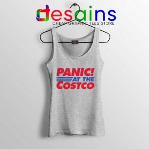 Panic At The Costco Sport Grey Tank Top Coronavirus Panic Tops