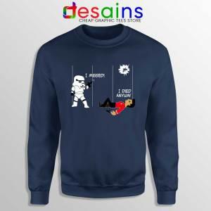 Stormtrooper And A Redshirt Navy Sweatshirt Star Wars Vs Star Trek