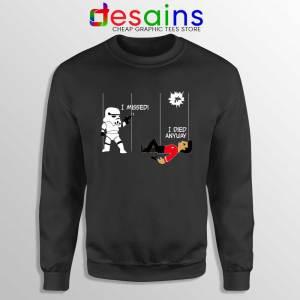 Stormtrooper And A Redshirt Sweatshirt Star Wars Vs Star Trek Sweaters
