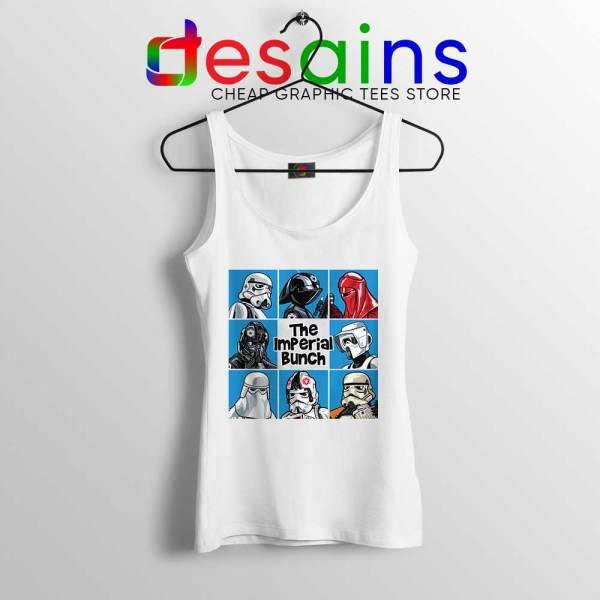 Stormtrooper Mash Up White Tank Top The Imperial Bunch Tops