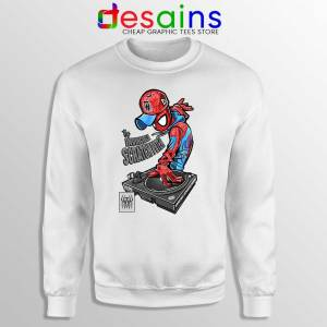 Spider Man Dj Marvel Comics White Sweatshirt Peter Parker Sweaters