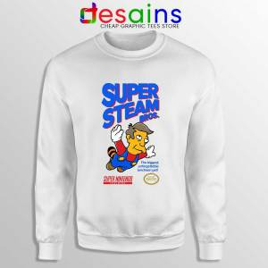 Super Simpsons Bros Sweatshirt Super Mario Nintendo Sweaters S-3XL