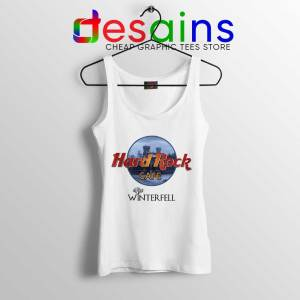 Winterfell Hard Rock Cafe White Tank Top Game of Thrones Tops