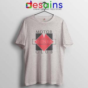 Shinra Motor Club SPort Grey Tshirt Final Fantasy VII Tee Shirts