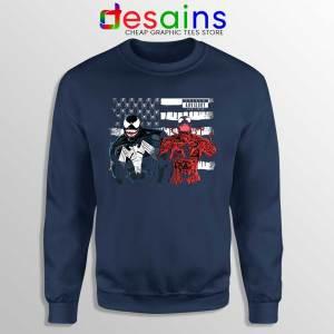 Venom And Spider Man Navy Sweatshirt Were Sorry Ms Parker Sweaters