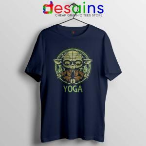 Yoga Master Yoda Navy Tshirt Star Wars Clothing Tees