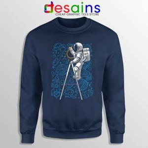 SpaceX Doodle Navy Sweatshirt Astronaut NASA Art Sweaters