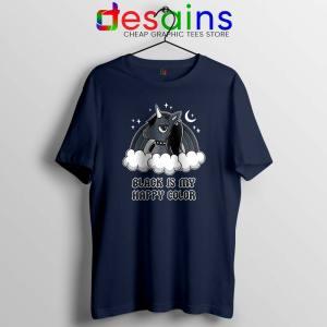 Unicorn Black Lives Matter Navy Tshirt Black is My Happy Color Tees