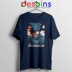 Visit Mordor Middle Earth Navy Tshirt Arch Villain Sauron Tee Shirts