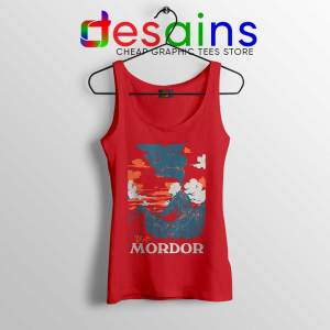 Visit Mordor Middle Earth Red Tank Top Arch Villain Sauron Tops S-3XL