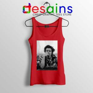 Dont Look Back Red Tank Top Harry Styles Quotes Cheap Tops