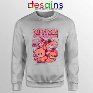 Dungeons Doggies Sport Grey Sweatshirt Dungeons & Dragons Cheap