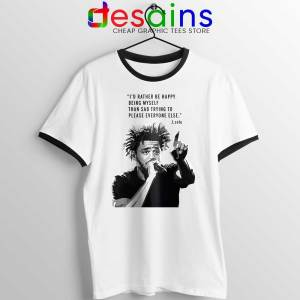 J Cole Quotes Being Myself Ringer Tee American Rapper Ringers