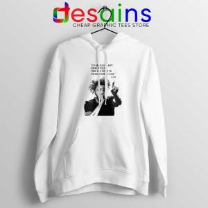 J Cole Quotes Being Myself White Hoodie American Rapper Jacket
