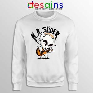 K K Slider vs The World White Sweatshirt Scott Pilgrim vs the World Sweaters