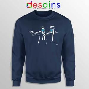 Pulp Fiction Covid19 Navy Sweatshirt Covid Fiction Film Sweaters